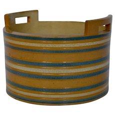 Yellow Ware Mocha Butter Tub - Rare Shape
