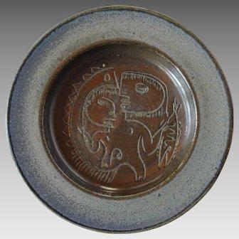 Scheier Pottery Dish with Figural Designs