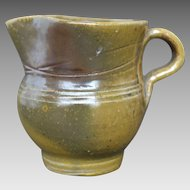 Vintage Jugtown Pottery Pitcher - Frogskin Glaze