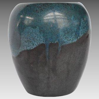 Fabulous Paul Revere Pottery Vase with Volcanic Drip Glaze