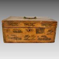 Antique Early American Schoolgirl Work Box