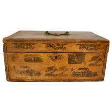Antique Early American Schoolgirl Work Box