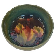 William Moorcroft Bowl - Leaf & Berry Pattern