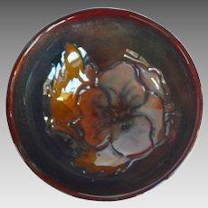 Wm. Moorcroft Flambe Pansy Mini Bowl