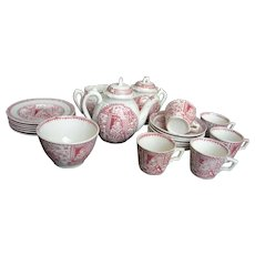 Staffordshire Complete Child's Tea Set for 6 - Red Tag Sale Item