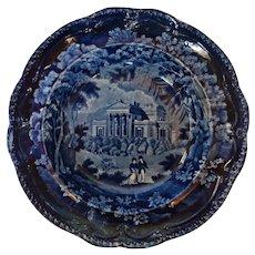 Historical Staffordshire Soup Bowl circa 1820 Adams