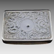 Antique Silver Snuff Box - Ben Wade Leeds