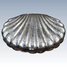 Antique Silver Shell Shaped Coin Purse