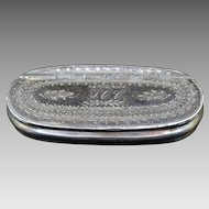 English Dixon & Sons Silverplated Snuff Box