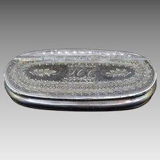 English Dixon & Sons Silverplated Snuff Box