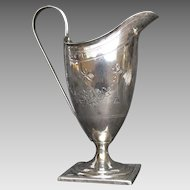 Georgian Silver Footed Creamer London 1793