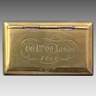 Brass Snuff Box dated 1862