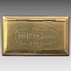 Brass Snuff Box dated 1862