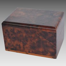 Solid Amboyna Wood Trinket Box
