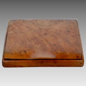 Georgian Burl Wood Snuff Box