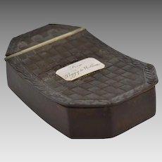 Gutta Percha Snuff Box circa mid 19th Century