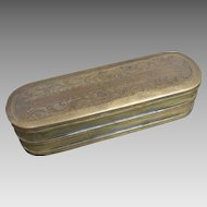18th C. Dutch Brass Tobacco Box