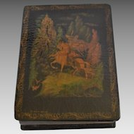 Russian Lacquer Box - Ruslan & Ludmila, by Pushkin