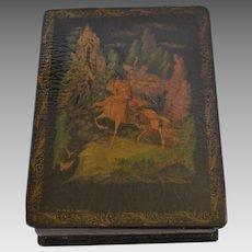 Russian Lacquer Box - Ruslan & Ludmila, by Pushkin