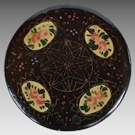 Hand Painted Papier Mache Snuff Box