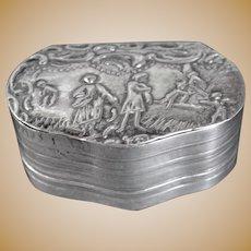 Edwardian Hallmarked Silver Snuff Box