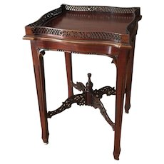 Antique Mahogany, Chinese Chippendale Silver Table