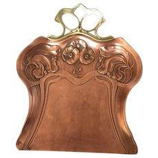 19th Century Art Nouveau Brass Tray.