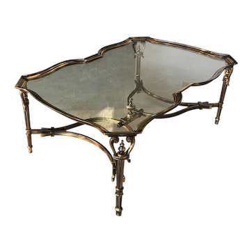 Italian, Hand-Made Solid Cast Brass Cocktail Table