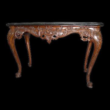 Maitland-Smith Hand Carved Mahogany Console Table