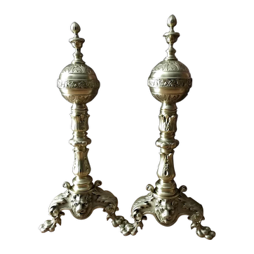 Georgian Style Andirons