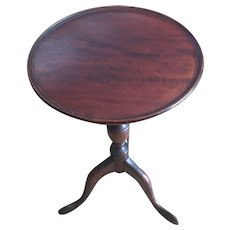 Chippendale style mahogany tripod wine table