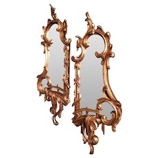Pair of Mid-18th Century Style Gilt Wood Mirrors