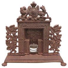 1880's Salesman's Sample Cast Iron Fireplace