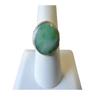 Antique 14 carat Gold and Jade Victorian/Edwardian Ring