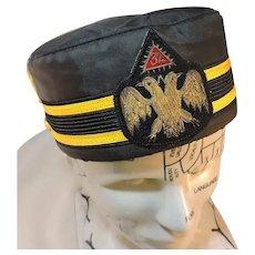Vintage 32nd Degree Masonic Hat Scottish Rite