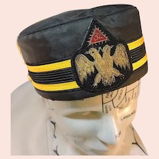 Vintage 32nd Degree Masonic Hat Scottish Rite