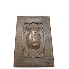 Beautiful Mid 19th Century Hand Carved Bible Box