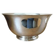 HEAVY Sterling Silver Revere Bowl by Richard Dimes - 1 lb 12 oz - 784 grams - 1930's