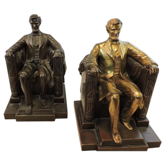Jennings Bros. Abraham Lincoln Bookends D C French JB 2440