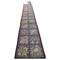 Amazing Hand Made Folk Art Runner - Over 17 Feet Long