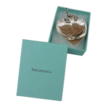 Tiffany and Company Sterling Silver Leaf Shaped Nut Dish