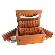 Unusual Handmade Primitive Cigarette Box Dispenser with Pop Out Sides