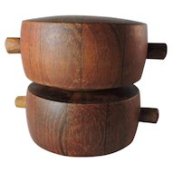 TEAK Salt Shaker/Pepper Grinder - Designed by Quistgaard for Dansk - 1965 ROSIE