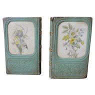 Vintage Faux Book Bookends by Borghese