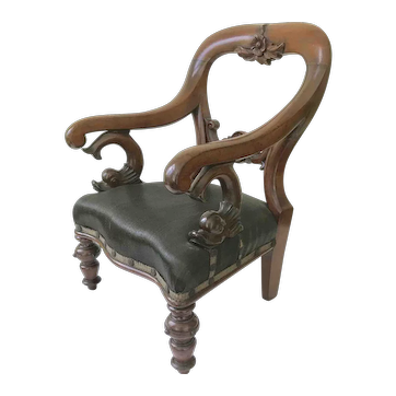 Antique child's balloon back chair.c1850 Matitime interest