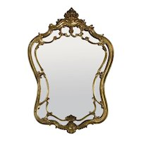 1960's Italian Gilt Carved Wood Mirror