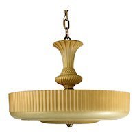 1930's American Deco Glass Shade Pendant