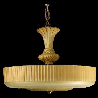 1930's American Deco Glass Shade Pendant