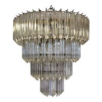 1960's Lucite Cascading Chandelier