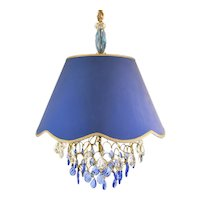 Blue Shade Crystal Pendant